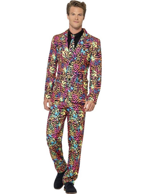 Neon Suit, XL, Adult Fancy Dress Costumes, Mens