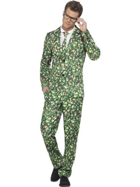 Brussel Sprout Suit, Medium, Christmas Fancy Dress, Mens