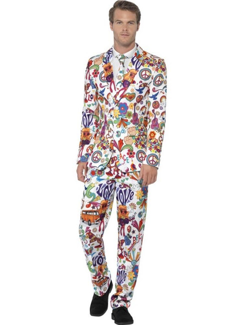 Groovy Suit, Medium, Adult Fancy Dress Costumes, Mens