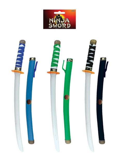 Black Ninja Warrior Sword, Plastic, Kids Toy/Gift