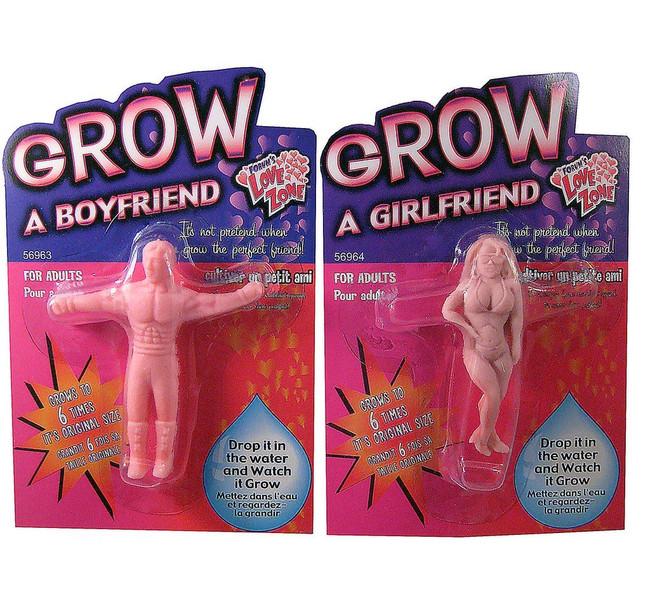 Novelty Grow A Boyfriend & Girlfriend, Joke Gift/Stocking Filler