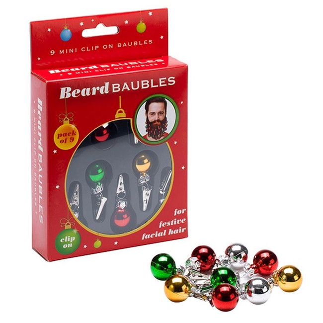 Beard Baubles, Festive Fun,Christmas Novelty Joke Gift,Xmas Secret Santa Present