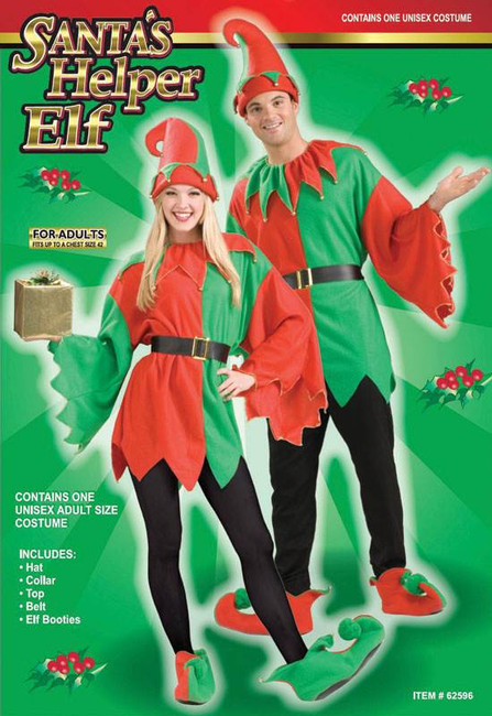 ELF/SANTA HELPER (UNISEX), CHRISTMAS FANCY DRESS COSTUME, SANTAS LITTLE HELPER
