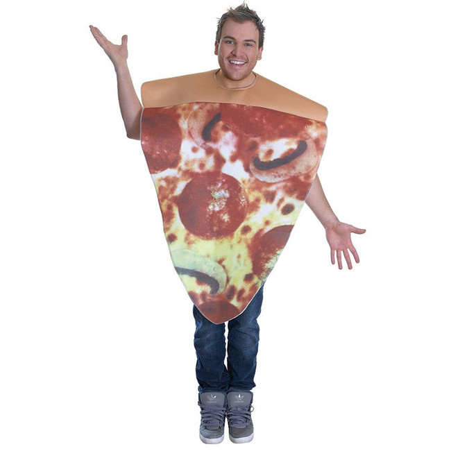 PIZZA COSTUME, HALLOWEEN FANCY DRESS COSTUME, ONE SIZE