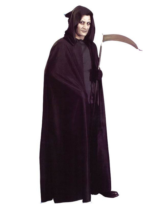 HOODED CAPE BLACK, FANCY DRESS COSTUME