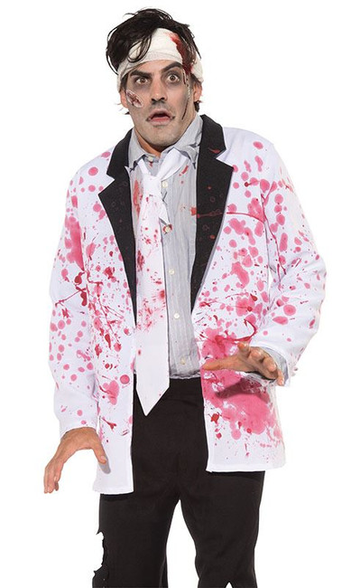 ADULT BLOODY JACKET COSTUME, FANCY DRESS, HALLOWEEN