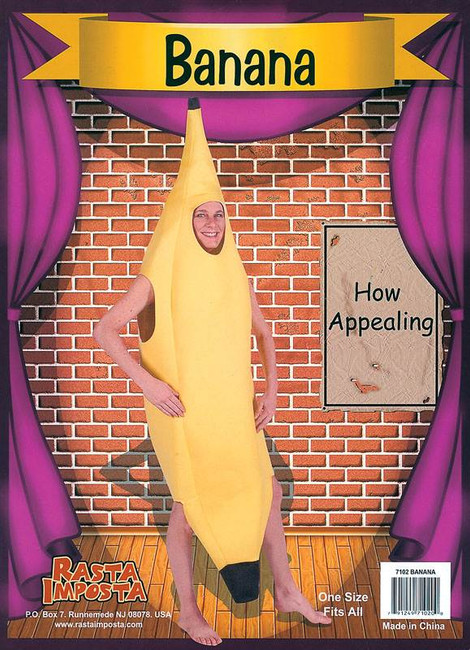 BANANA ADULT, NOVELTY, UNISEX, FANCY DRESS COSTUME