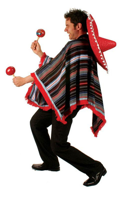 MEXICAN PONCHO, FANCY DRESS COSTUME