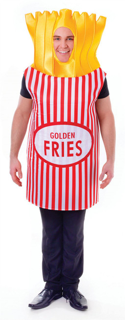 French Fries, Unisex Adult Fancy Dress Costume, One Size