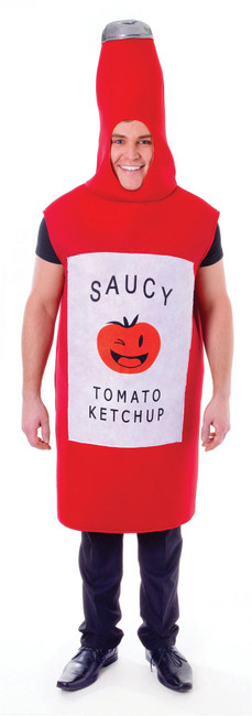 Tomato Sauce Bottle, Unisex Adult Fancy Dress Costume, One Size