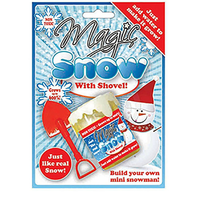 Grow Your Own Magic Snow, Christmas Novelty Joke Gift,Xmas Secret Santa Present, Gag
