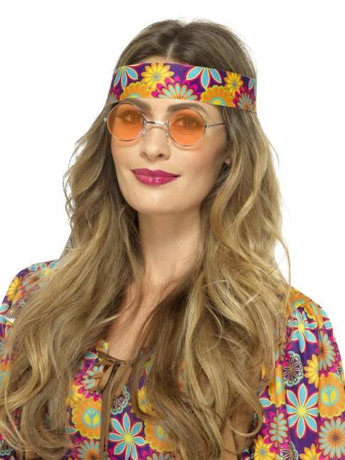 Orange Hippie Specs, 1960's Groovy Fancy Dress