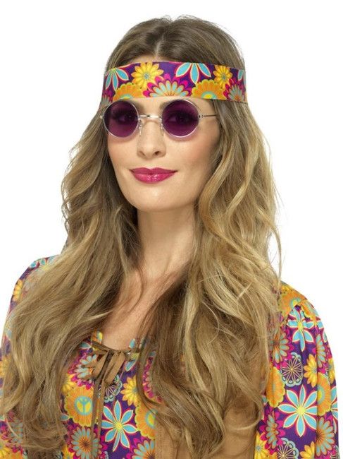 Purple Hippie Specs, 1960's Groovy Fancy Dress