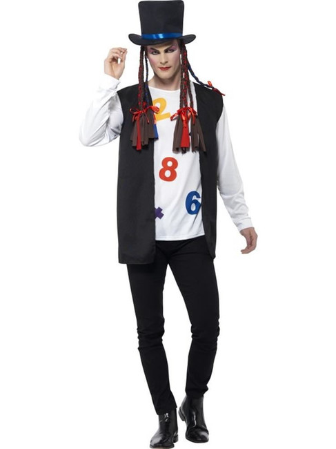 80's Pop Star Costume, Medium, Adult Fancy Dress Costumes, Mens