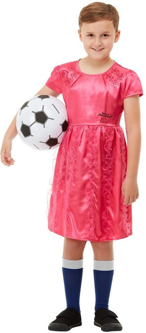 David Walliams The Boy in the Dress Deluxe Costume, Boys Fancy Dress, Small Age 4-6