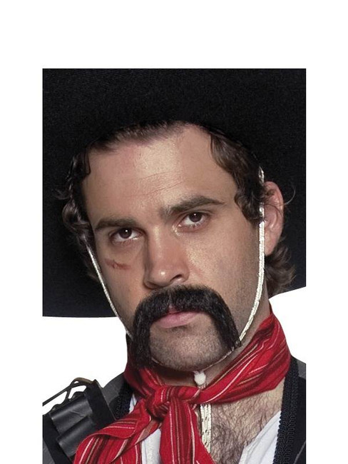 Authentic Western Mexican Handlebar Moustache.