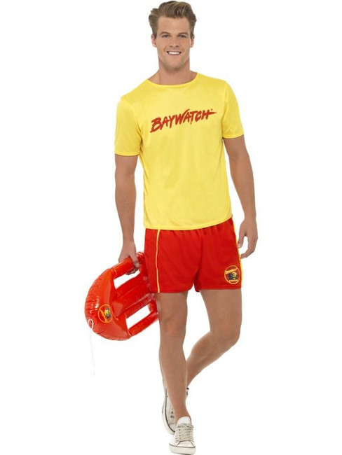 "Baywatch Men's Beach Costume, Chest 38""-40"", Leg Inseam 32.75"""