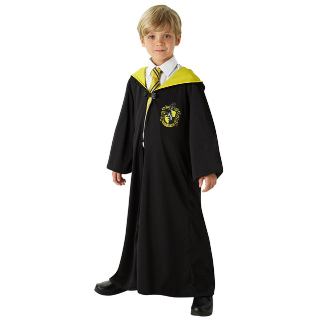 Harry Potter Hufflepuff Robe, Medium, Age 5-7, Licensed Costume