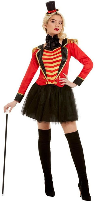 Deluxe Ringmaster Lady Costume, Womens Fancy Dress, UK Size 8-10