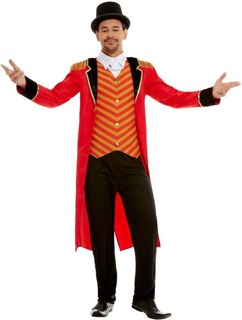 Deluxe Ringmaster Costume, Mens Fancy Dress, XL