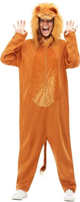 Lion Costume, Adult Unisex Fancy Dress, Large