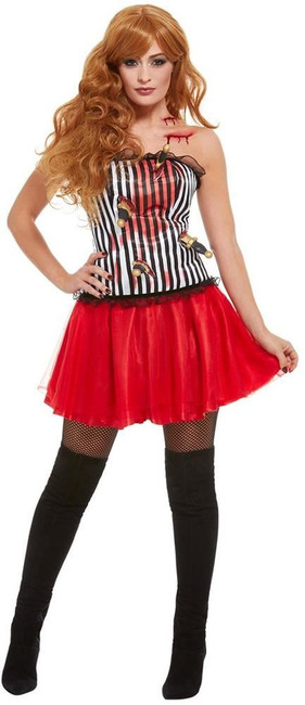 Deluxe Knife Throwers Assistant Costume, Womens Fancy Dress, UK Size 8-10