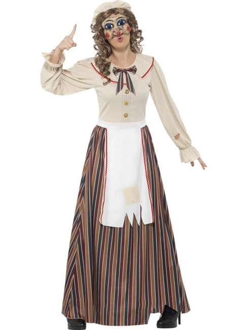 Possessed Judy Costume, Large, Halloween Fancy Dress, Womens, UK 16-18