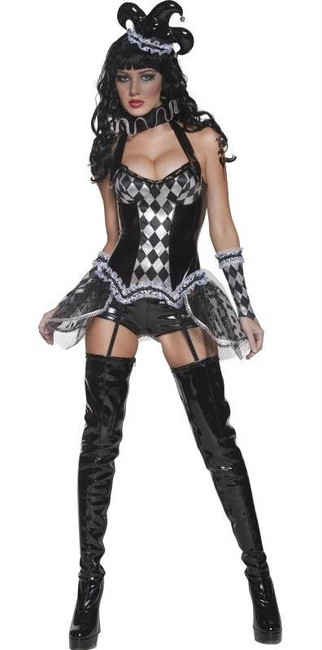 Cirque Sinister Tainted Harlequin Costume, UK Dress 12-14