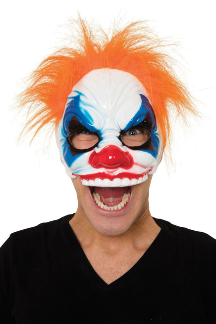Scary Evil Clown Mask, Hair