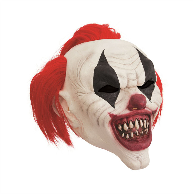 Clown Mask Crazy Red Hair