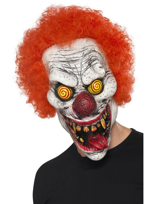 Twisted Clown Mask, Halloween Fancy Dress, RED