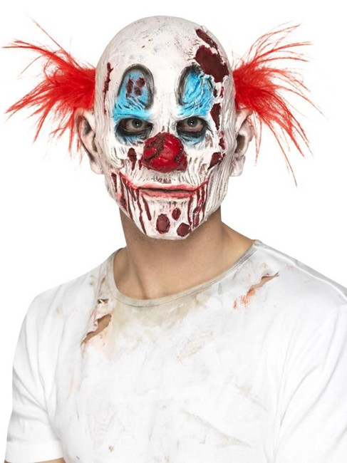 Zombie Clown Mask, Foam Latex, Halloween Fancy Dress Accessories