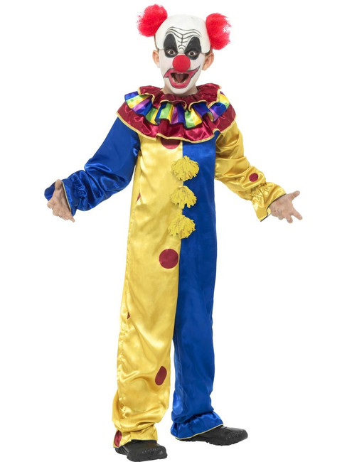 Goosebumps The Clown Costume, Jumpsuit,Medium Age 7-9,Halloween Fancy Dress