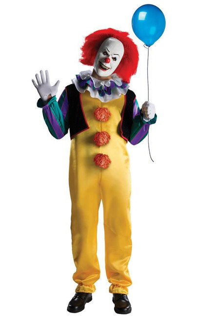 Pennywise Deluxe Costume, IT Fancy Dress, STD