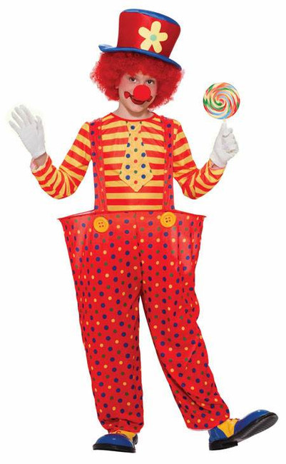 KIDS HOOP CLOWN, LARGE, BOYS/GIRLS FANCY DRESS COSTUME, KIDS BOOK WEEK