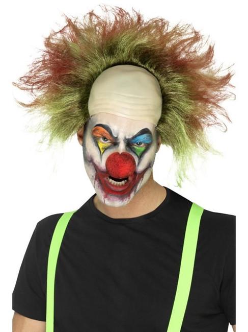 Green Sinister Clown Wig, Halloween Cirque Sinister Fancy Dress