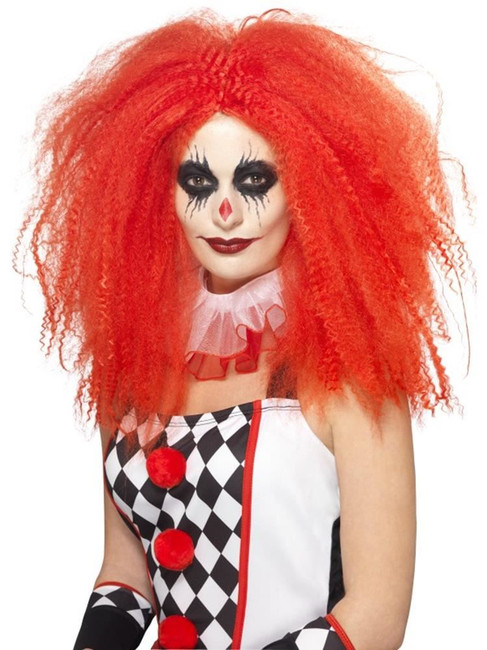 Clown Wig, Adult Fancy Dress Costumes, RED