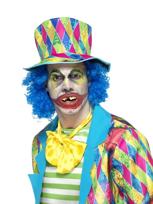 Yellow Psycho Clown Teeth, Cosmetics and Disguises. One Size
