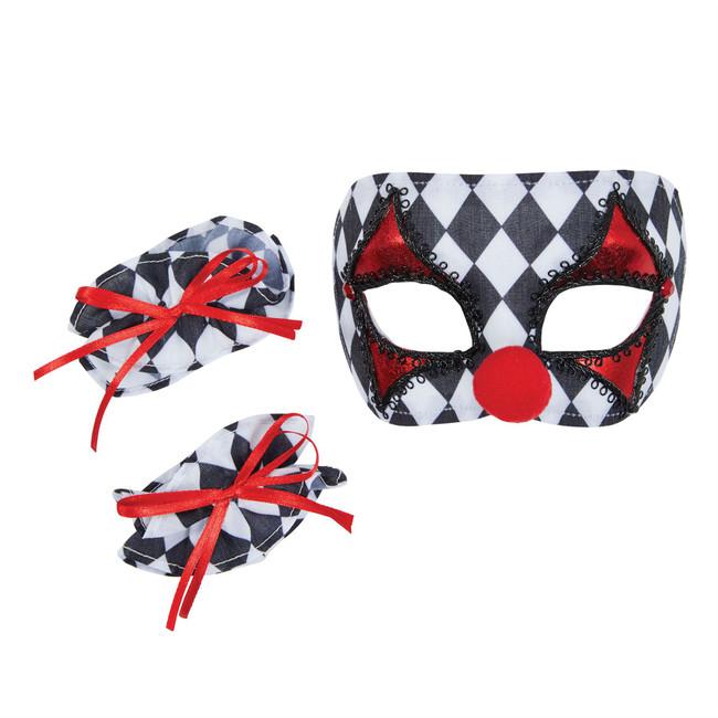 Clown Mask + Cuffs Set Childs