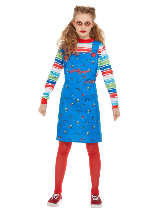Chucky, Girls Halloween Fancy Dress Costume, Medium Age 7-9
