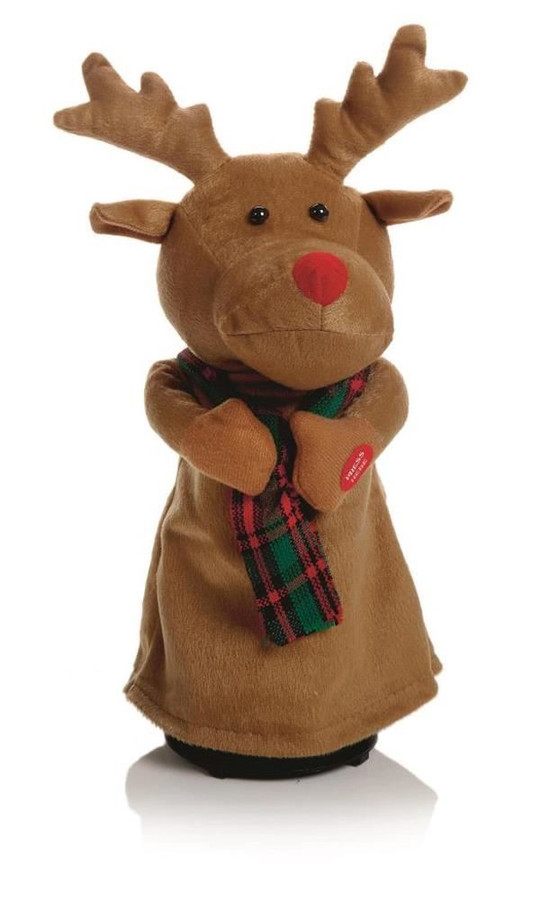35cm Dancing Reindeer Battery Operated, Christmas Decoration