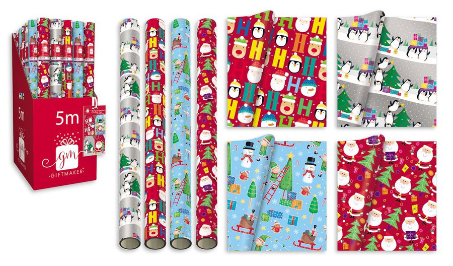 Christmas Cosy 5m Wrapping Paper