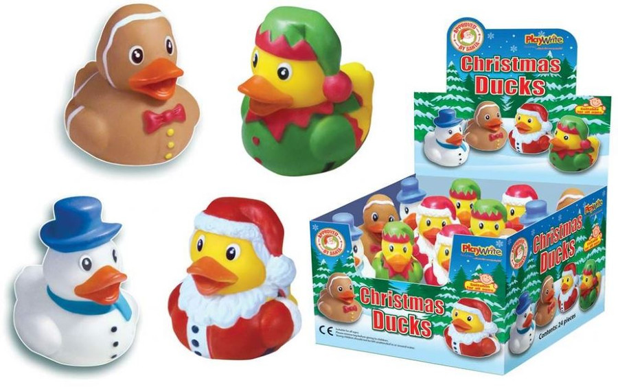 Christmas Duck Bath Toy, 1 Per Sale, Stocking Filler/Gift
