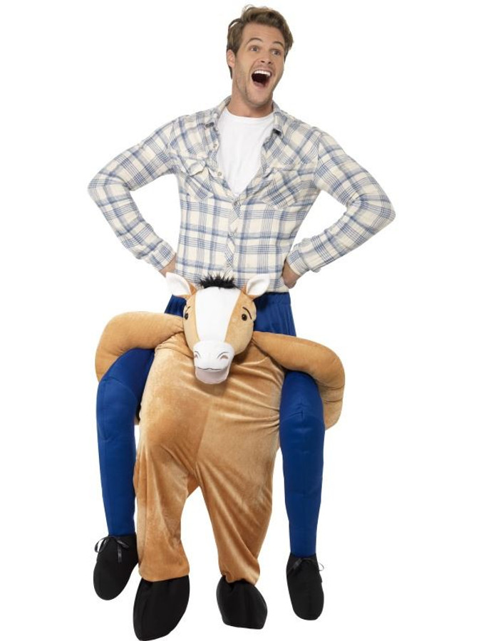 Brown Piggyback Horse Costume, Funnyside Fancy Dress. One Size