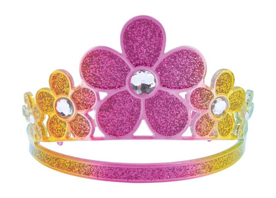 Glitter Rainbow Flower Tiara