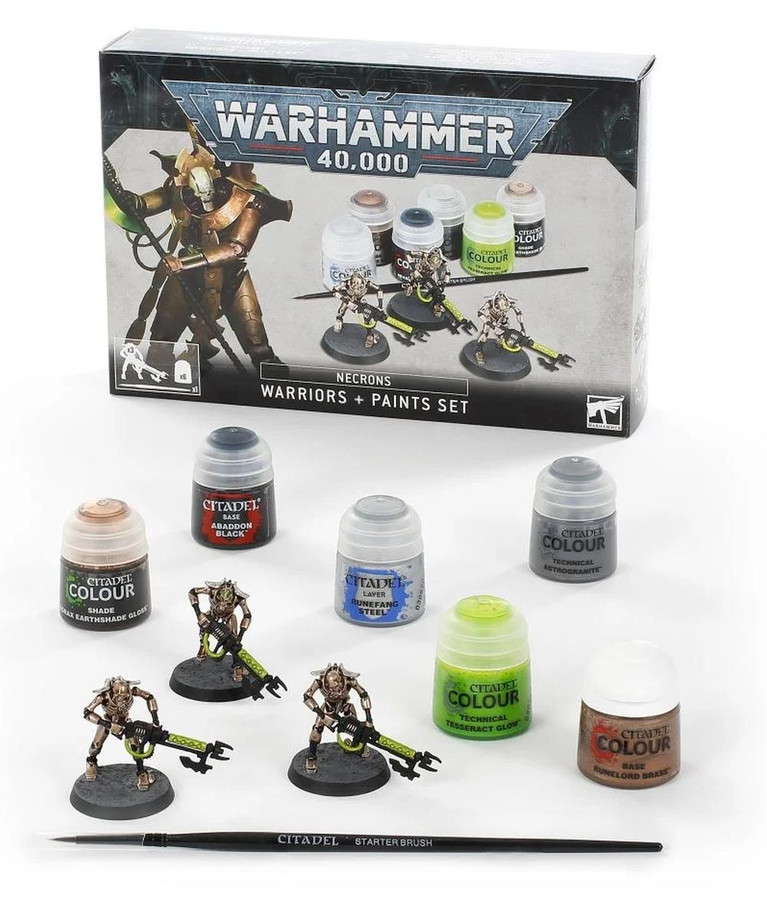Necrons:  Warhammer 40,000, Necron Warriors Paint Set