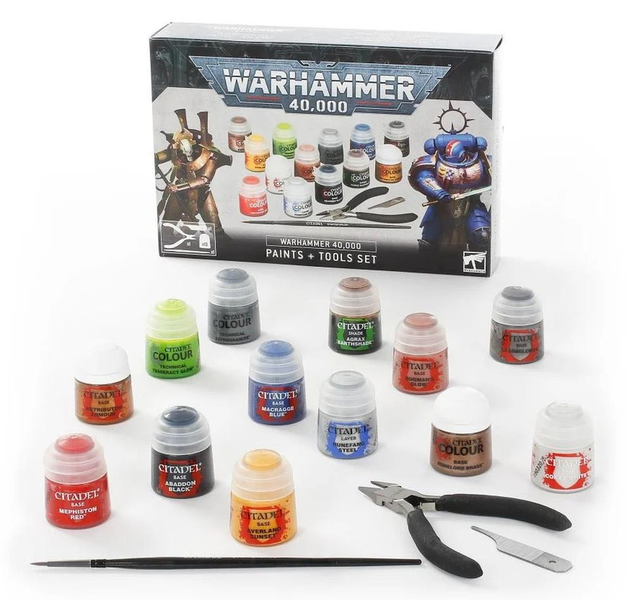 Warhammer 40,000:  Paints & Tools Set