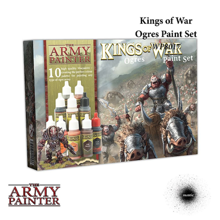 The Army Painter - Warpaints, Kings of War Ogres Paint Set,  Wargaming/Hobby/Modeling/Art
