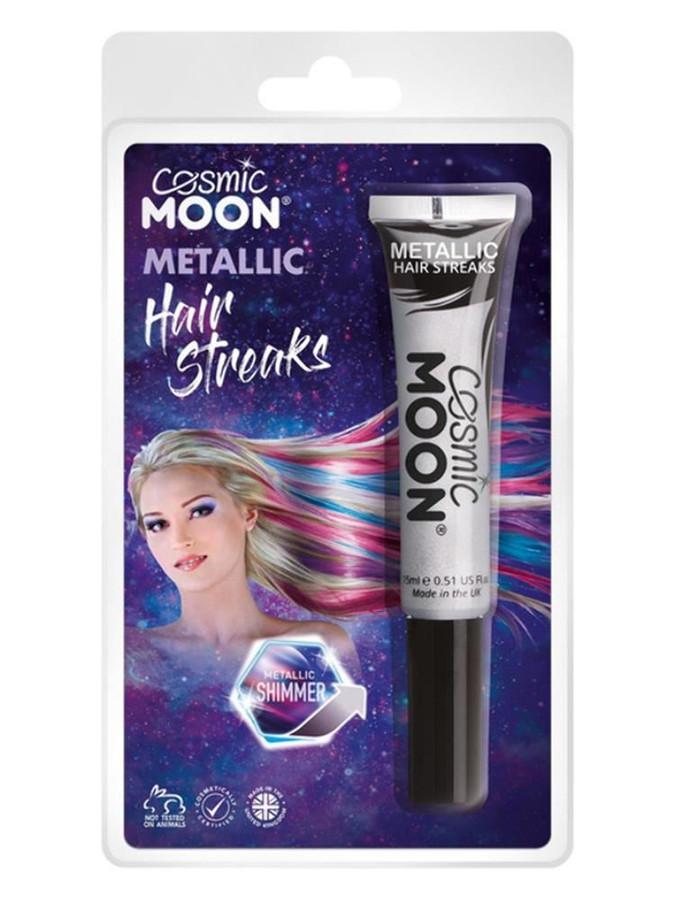 Cosmic Moon Metallic Hair Streaks, Silver.