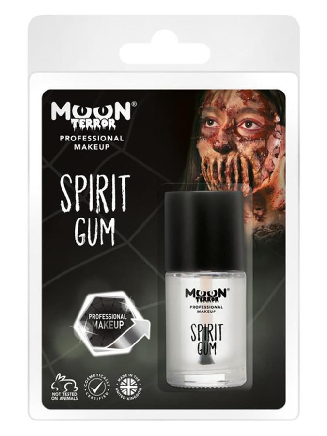 Moon Terror Pro FX Spirit Gum, Clear.